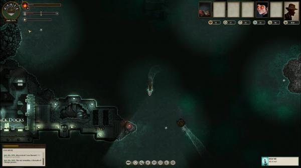 En Sunless Sea viviremos constantemente en alta mar.